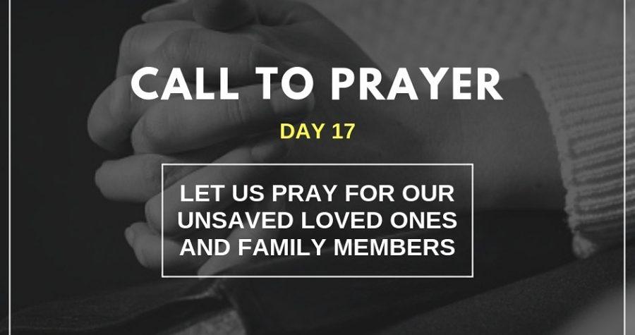 Call To Prayer &#8211&#x3B; Day 17 &#8211&#x3B; November 7, 2018
