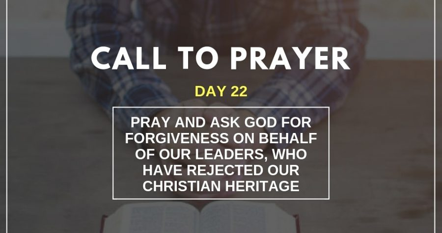 Call To Prayer &#8211&#x3B; November 12, 2018