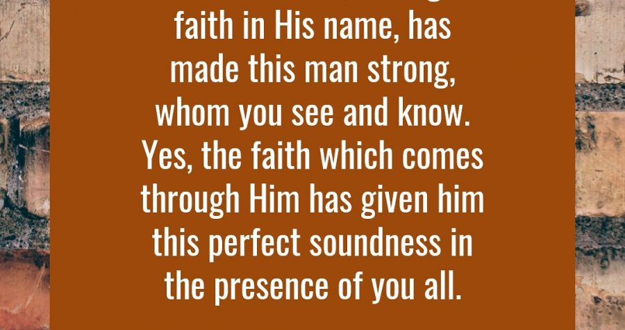 Word For Faith &#8211&#x3B; May 7, 2019
