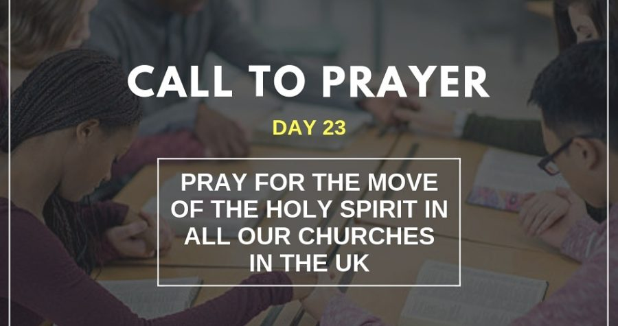 Call To Prayer &#8211&#x3B; Day 23 &#8211&#x3B; November 13, 2018